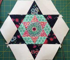 Smitten Quilt Large Hexagon Five A