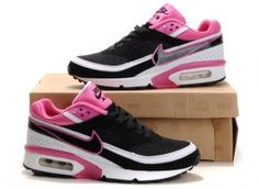 Womens Nike Air Max BW Black Red White Shoes.$79.96