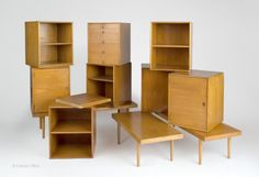 Eames and Saarinen designed these award-winning Case Goods which were produced by the Red Lion Table Company in 1941@museummodernart