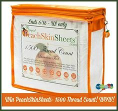 Enter to #win PeachSkinSheets Ultra-Soft 1500 Thread Count Sheets! #SizzlingSummer