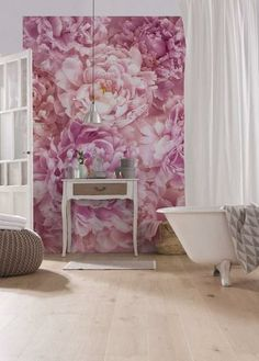 Mural Brewster Home Fashions Soave Wall Deco Floral, Floral Wall, Poster Xxl, Flower Wall Decor, Home Wallpaper, Pink Peonies, Wall Murals, Wall Art, Shabby Chic