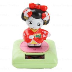 Japanese Dancing Girl Style Solar Power Shaking Head Toy