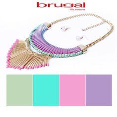 Colores de temporada que te hacen lucir más bella. #Brugalízate.  Cómpralo aquí: http://brugalaccesorios.com/