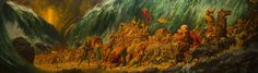 """""""Parting of the Red Sea"""" by Arnold Friberg."""