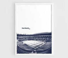 Real Madrid FC Santiago Bernabeu Stadium Football Poster  A3