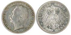 1913, 5 Mark Friedrich II. From Baden, minimum margin fault, vz-st.    Dealer  Dr. Reinhard Fischer Auktionen    Auction  Minimum Bid:  300.00EUR