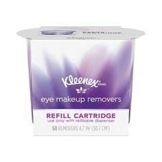 Kleenex Eye Makeup Remover Refill Cartridge  ct ($4.99) ❤ liked on Polyvore featuring beauty products, skincare, face care, makeup remover, kleenex, oil free eye makeup remover, eye makeup remover and oil free makeup remover