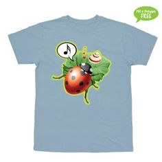 Mariehønen Evigglad  T-shirt i str. 2-6 år
