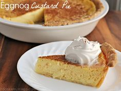 Eggnog Custard Pie Recipe