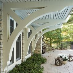 Love the awnings. From Houzz