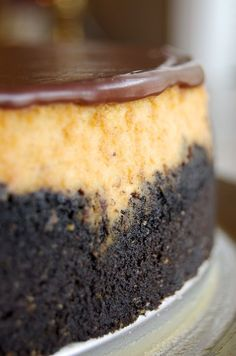 Peanut Butter Cup Cheesecake is a must for peanut butter and chocolate fans! - Bake or Break