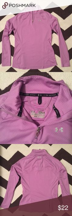 Under Armour Pullover Light weight semi-fitted workout pullover.  Back side small concealed on-seam zipper for belongings.  super pretty lavender color.  good used condition. Under Armour Other
