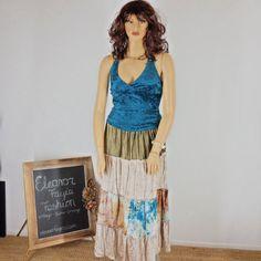 Sze 16 /18 Bohemian Velvet Maxi Skirt Boho by EleanorFayesFashion