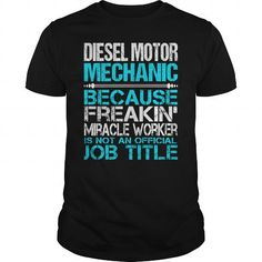 Awesome Tee For Diesel Motor Mechanic