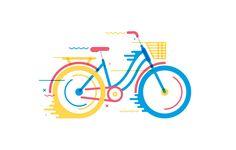 Ilustração bicicleta
