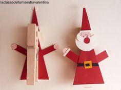 Papá Noel en pinza de la ropa