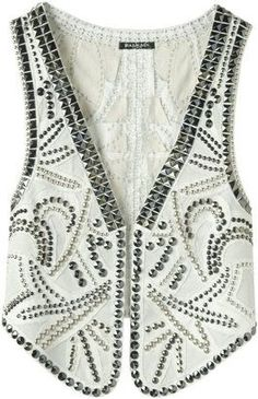 Check out our good selection of Women's Vest inclusive of puffer jacket, down jacket, quilted shirt from top-rated. Studded Jeans, Studded Leather, Rodeo Queen, Vest Outfits, Vest Jacket, Balmain, Clothes For Women, My Style, Fashion Design