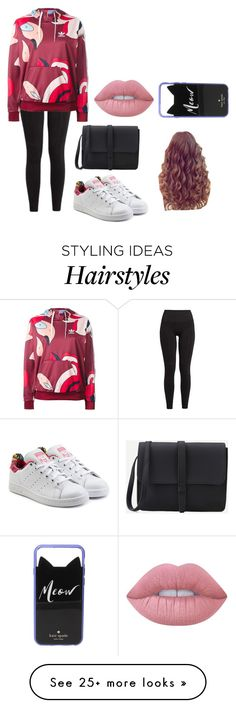 """""""Untitled #409"""" by luka1207 on Polyvore featuring LNDR, adidas Originals, Kate Spade and Lime Crime"""