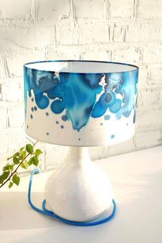 Vintage-Stehlampe Tischlampe mit Textilkabel DY... - LaserCats - Table Lamps - Lighting - DaWanda