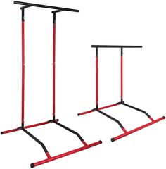 Popsport Pull Up Dip Station Power Tower Station Multi-Station Power Tower Workout Pull Up Station with Carry Bag for Home Fitness (BlackandRed)** Find out more about the great product at the image link. (This is an affiliate link) Pull Up Station, Dip Station, Home Gym Equipment, No Equipment Workout, Pull Up Rack, Power Tower Workout, Squat Machine, Inverted Row, Dip Bar
