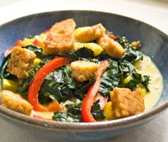 Vegetarian Recipe: Thai Kale Tempeh Curry Recipe