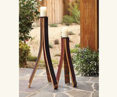 What you can do with wine barrel staves!