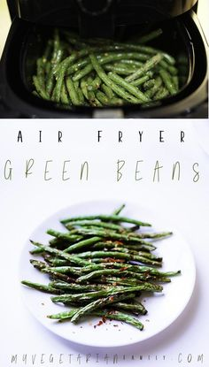 Air Fryer Green Beans By myvegetarianfamil. Green beans with very little oil, . - Air Fryer Green Beans By myvegetarianfamil… Green beans with very little oil, done in 8 minutes, - Air Fryer Recipes Potatoes, Air Fryer Oven Recipes, Air Fry Recipes, Cooking Recipes, Healthy Recipes, Healthy Sweets, Cheap Recipes, Fast Recipes, Healthy Foods