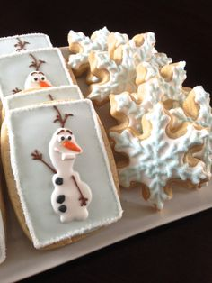 Olaf of Frozen Decorated Cookies