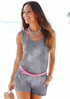 Plážový overal opraného vzhledu, s.Oliver  #avendro #avendrocz #avendro_cz #fashion #soliver Beachwear, Overalls, Rompers, Tank Tops, Stuff To Buy, Shopping, Collection, Dresses, Design