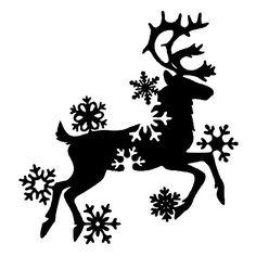 Девочки, у меня много кто просит оленьков с колокольчиков ...для вживления.<br>Сразу выложу, кому надо- берите! Christmas Stencils, Christmas Wood, Winter Christmas, Christmas Decorations, Christmas Ornaments, Cricut Creations, Vinyl Crafts, Silhouette Projects, Christmas Printables