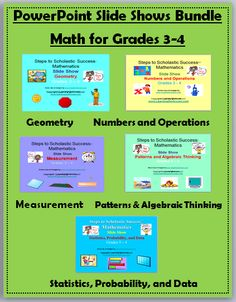 Math PowerPoint Bundle for Grades 3-4