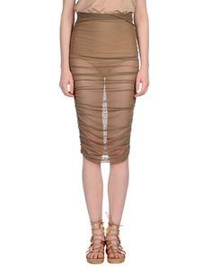 EMPORIO ARMANI Knee Length Skirt. #emporioarmani #cloth #dress #top #skirt #pant #coat #jacket #jecket #beachwear #