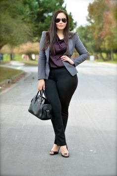 perfect-work-outfits-for-plus-size-women-16 #beawomanbodybuilder