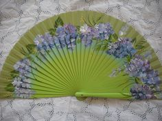 hand painted spanish fan FREE SHIPPING by txiquisan on Etsy