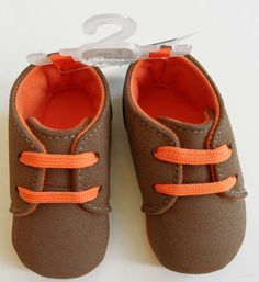 new FIRST IMPRESSIONS CRIB SHOES baby boys  0, 1, 2, 3 BROWN SUEDE SNEAKERS #FirstImpressions #CribShoes