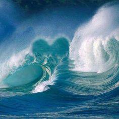 Heart in waves