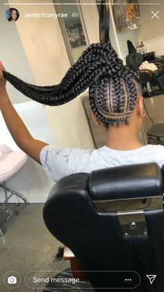 2019 Beautiful Braids Every Lady Should Try Feed In Braids Hairstyles, Braided Ponytail Hairstyles, Braided Hairstyles For Black Women, African Hairstyles, Feed In Braids Ponytail, Cornrows Updo, School Hairstyles, Protective Hairstyles, Weave Hairstyles