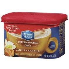 Maxwell House International Cafe Style Beverage Mix, Chai Latte 9 oz by Maxwell House Maxwell House Coffee, Caramel Latte, Cafe Style, Vanilla Flavoring, Coffee Recipes, Best Coffee, Food Items, Gourmet Recipes, Beverages