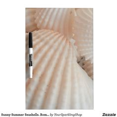 Sunny Summer Seashells. Romantic, Exotic Tropical Dry-Erase Board