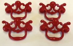 Drawer Pulls Chippendale 4 Vintage Hardware Bail by prettyware