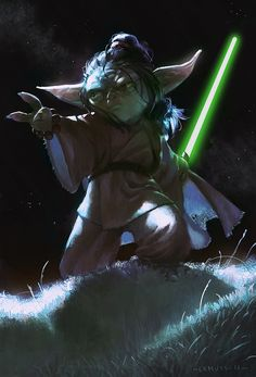 Yoda my name is : by lehuss (Young Yoda story should be a movie, or at the very least a marvel comic book!)