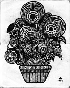 Eyeball Plant - Sketchbook - www.darylcampbell.com - #illustration #ink
