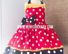 Minnie Mouse Dress Minnie Dress Minnie Mouse Costume Little Mickey Mouse Dress, Minnie Dress, Minnie Mouse Costume, Mermaid Dresses, Little Girl Dresses, Girls Dresses, Girls Boutique Dresses, Birthday Dresses, Tee Dress