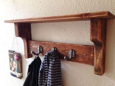 Handcrafted-handmade Wooden Coat Hook Coat Rack With Shelf 3 Hook.  | eBay