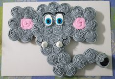 Elefant Cupcakes - My Boys - Baby Shower Foods Baby Shower Cupcake Cake, Shower Cakes, Cupcake Cakes, Baby Shower Cupcakes For Girls, Cake Baby, Cupcake Ideas, Shower Bebe, Baby Shower Fun, Baby Shower Themes
