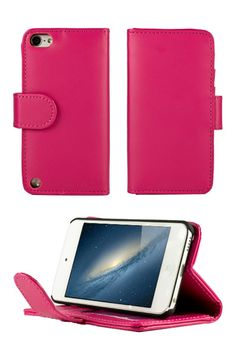 iPod 5th Generation Cases for Girls   HHI Flip Wallet Case with Stand for iPod Touch 5th Generation - Pink