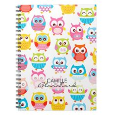 Cute Litte Owls Personalized Note Books
