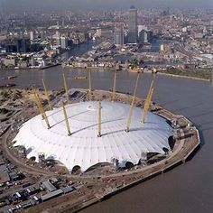 The O2 Arena in London-formerly known as the Millinium Dome http://www.theo2.co.uk/