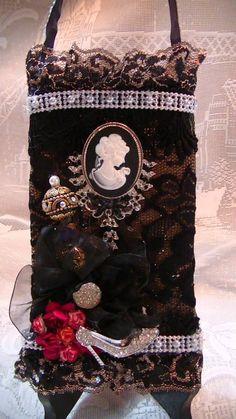 burlap bag i created Christmas Stockings, Burlap, Hessian Fabric, Christmas Leggings, Jute