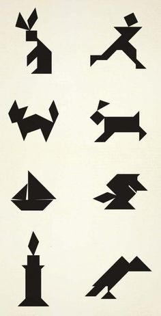 simple tangram patterns - Google Search